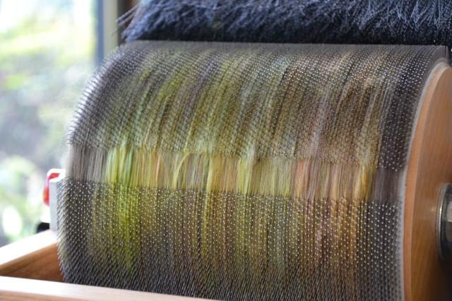 Mélange de macomérino brun et de soie