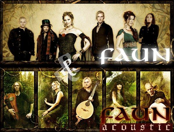 Les membres du groupe Faun